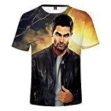 SAMUEL HOAGLAND Teen Wolf Derek Hale Unisex Stylish 3D Printed Graphic Short Sleeve T-Shirts for Women Men L Black