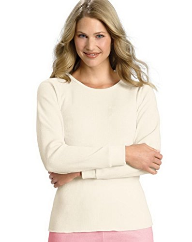 Hanes Women`s X-TempTM Thermal Crew,25455,2XL,Winter White ()