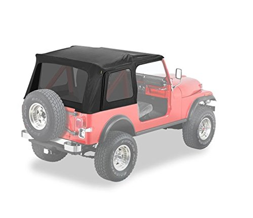 Bestop 54599-15 Black Denim Supertop Classic Replacement Soft Top w/Tinted Windows for 1976-1995 Jeep CJ7 and Wrangler