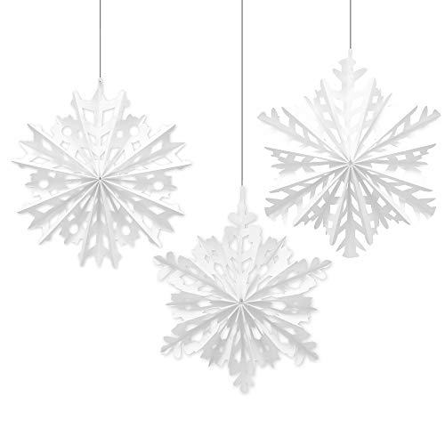 Amscan Snowflake Hanging Paper Fan | Christmas Decoration