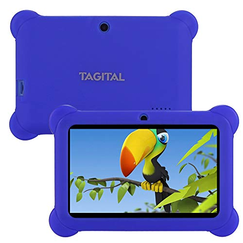 Tagital T7K Kids Tablet, 7 inch Display, Kids Mode Pre-Installed, with WiFi and Camera and Games, HD Kids Edition (Blue)