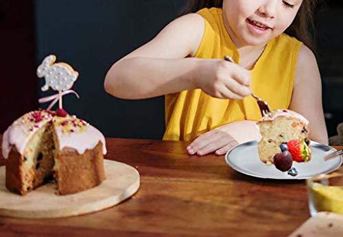 BeGrit Pizzablech 2er-Set Edelstahl Rund Pizzaform Pizza Backblech zum Backen im Ofen ∅ 20 cm Edelstahlteller Pizzatablett Fütterung Servierteller für Kinder Kleinkinder