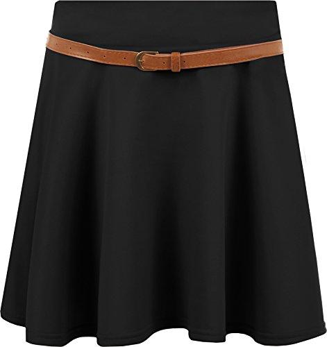 WearAll - Mini-jupe vase avec une ceinture - Jupes - Femmes - Tailles 36  42 Noir