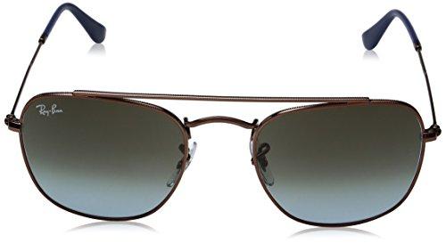 Ray-Ban Mens Metal Man Square Sunglasses, Dark Bronze, 51 mm
