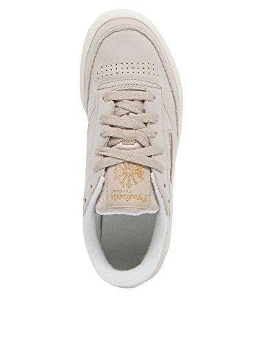Reebok Club C 85 VTG, Zapatillas de Tenis Para Mujer Beige (Cork/Chalk/Rbk Brass 000)