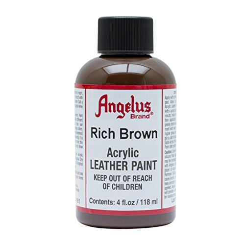 - Angelus Acrylic Leather Paint-4oz.-Rich Brown
