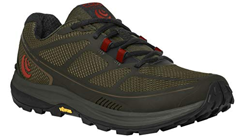 (Topo Athletic Terraventure 2 Running Shoe - Men's Olive/Red 10)
