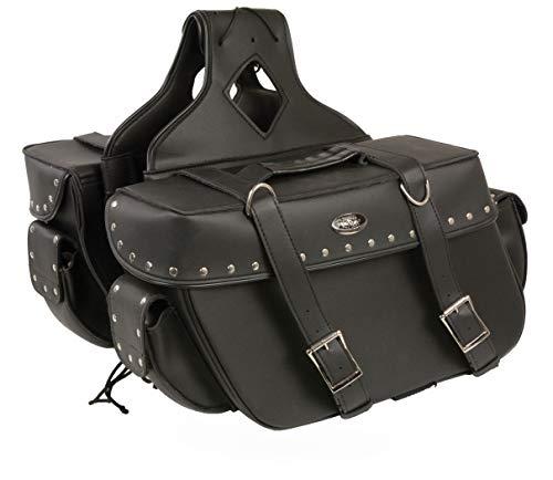 - Milwaukee Performance SH574ZB Black Large Zip-Off PVC Throw Over Riveted Saddle Bag