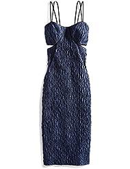 Jonathan Simkhai Womens Mesh Pyramid Dress