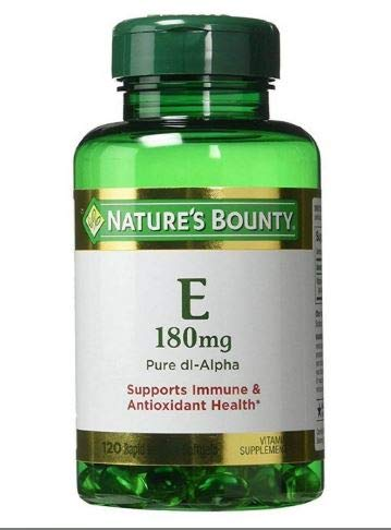 Nature's Bounty Vitamin E 400 IU Softgels Pure DL-Alpha 120 Soft Gels (Pack of 2)