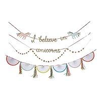 Meri Meri, Unicorn Garland, Birthday, Party Decorations