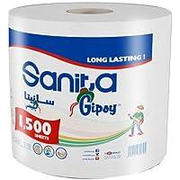 Sanita Gipsy Maxi Roll,1500 Sheets white color