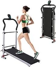 MINIKID Treadmill Multifunctional Shock-Absorbing Mechanical Treadmill, Home G-ym Portable Manual Treadmill Ru