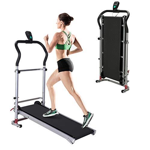 1962 Treadmill, Folding Manual Treadmill,Jogging Walking Running Exercise Machine, Portable Cardio Fitness Exercise…