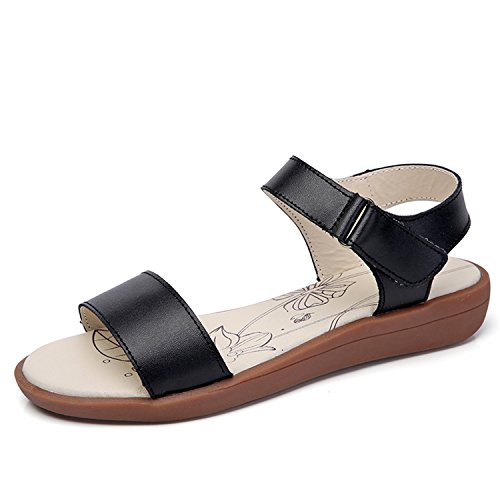 Hook Casual Sandals Webb Women's Walking Loop Perkin Black and wEwUAXaq