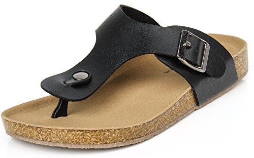 A Plat Sandales Pu Boucle eul03 Peep Femmes Sandales AgeeMi Shoes Toe Femmes Plates Chaussures Cuir Noir Enfiler 4nRnBYv