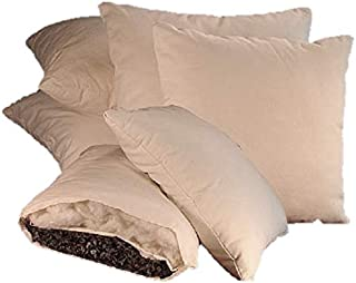 "product image for White Lotus Home OBWWSP03 Buckwheat and Wool (Buckwool) Sleep Pillow with Organic Twill Outer Casing (20"" x 30"" Queen), 20x30, Natural"