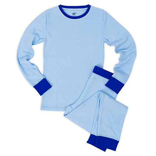 Colored Thermal Underwear - Lucky & Me Mason Boys Thermal Underwear Set, Tagless, Size 7/8, Blue/Sapphire