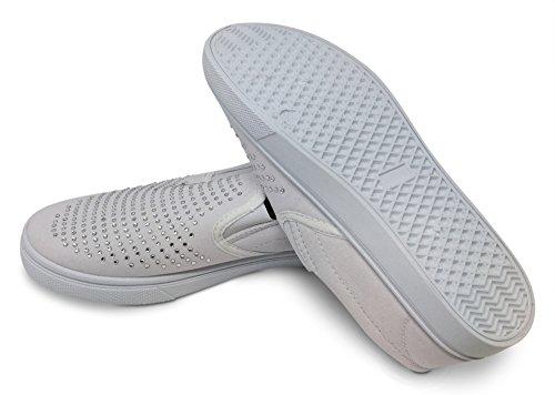 Look Zapatillas Para Mujer de blanco Fabulous Lona pArnqgFpw