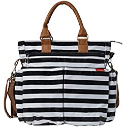 Diaper Bag for Baby by Zohzo - Diaper Tote Bag with Changing Pad, Insulated Pockets, Wipes Pocket, Waterproof Material, Stroller Straps, and Shoulder Strap Diaper Bags