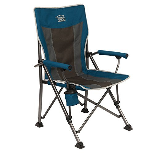Timber Ridge Camping Folding Quad Chair Outdoor Sports Heavy Duty with Carry Bag Support 300lbs
