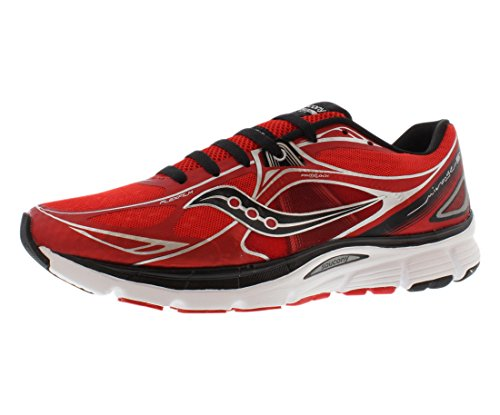 Saucony Men's Mirage 5 Running Shoe,Red/Black,9 M US