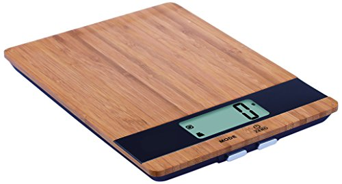DigiWeigh Kitchen Scale with Bamboo Platform and 11Lb Cap (DW-85)