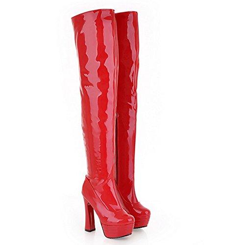 COOLCEPT Botas Sobre la Rodilla para Mujer 98 Red