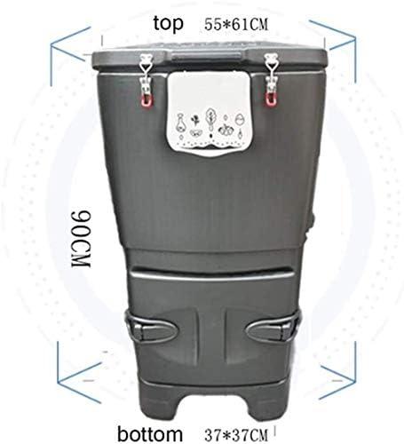 YWAWJ 120Lコンポストビンガーデンコートヤードアウトドアキッチンに最適な堆肥食品安全堆肥エコリサイクル土壌屋外貯蔵ビン廃棄物野菜や花の肥沃な土壌を作成します。 (Color : A)