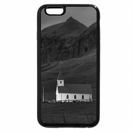 iPhone 6S Plus Case, iPhone 6 Plus Case (Black & White) - beautiful country church in iceland