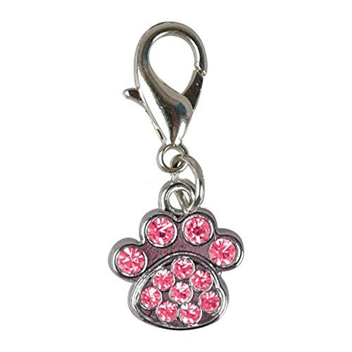 Rhinestone Dog Collar Charm (JYS365 1Pc Cute Fashion Rhinestone Paw Collar Charm Pet Jewelry Dog Puppy Collar Necklace Pendant)