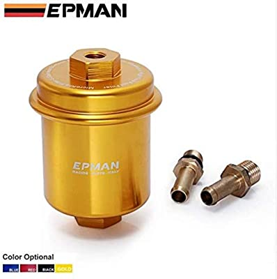 amazon com: epman sport racing performance blue high flow fuel filter for  mitsubishi tk-of111 (golden): automotive