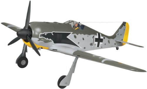 Top Flite Focke-Wulf FW-190 Radio Controlled Gasoline Powered 55cc Giant Scale Almost-Ready-to-Fly Warbird Airplane
