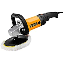 "Goplus 7"" Electric Car Polisher Variable 6-Speed Buffer & Sander w/Bonnet Pad"