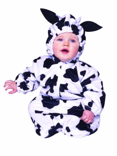 Bunting - Cow with Zipper (Velboa) Infant Costume Size Standard (Cow Costume Infant)