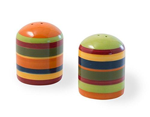 Celebrate the Home KAC18469 Ceramic Shaker Set, Salt and Pepper, A La Fiesta (Fiesta Salt)