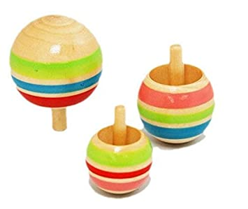 Efbock Wooden Inverted Spinning Gyro niños de juguete ...