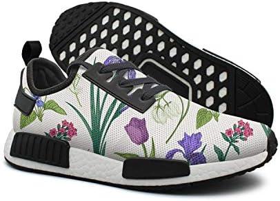 Purple Pansies Flowers and Herbs - Zapatillas de Deporte para Hombre: Amazon.es: Deportes y aire libre