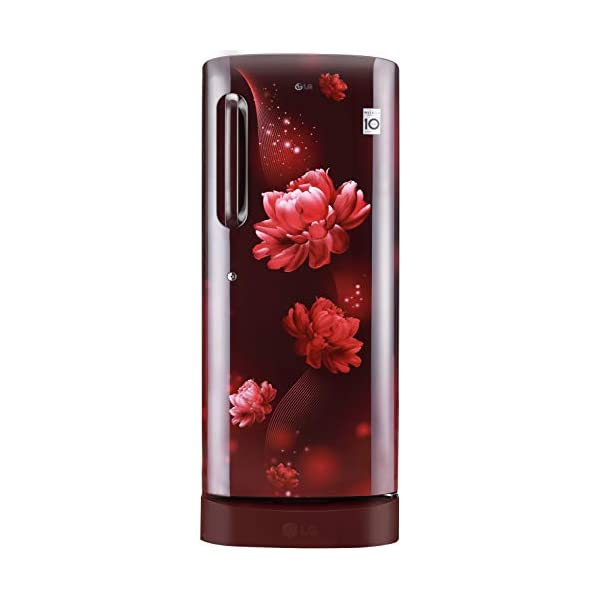 LG 235 L 4 Star Inverter Direct-Cool Single Door Refrigerator (GL-D241ASCY, Scarlet Charm, Base stand with Drawer) 2021 July Direct-cool refrigerator: Economical and Cooling without fluctuation Capacity 235 liters: Suitable for families with 2 to 3 members and bachelors Energy Rating 4 Star: High energy efficiency