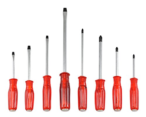 Neiko 01362A Go-Through Screwdriver Set with Magnetic Tips, 8 Piece ()