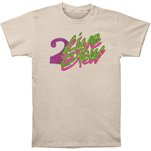 2 Live Crew Men's Vintage Logo Sand Tee T-Shirt Medium ()