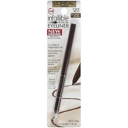 L'Oréal Paris Makeup Infallible Never Fail Pencil Eyeliner, Carbon Black, 0.008 oz. L' Oreal Paris Cosmetics L58008