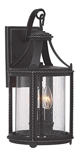 Artisan Pardo Wash Palencia 3 Light Outdoor Lantern Wall Sconce by Designers Fountain