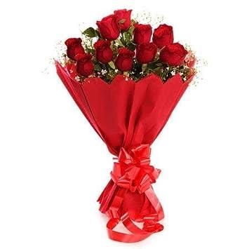 Golden Cart Fresh Flowers Bouquet Fresh Roses I Valentine Gift For Girlfriend I Valentine Gift For