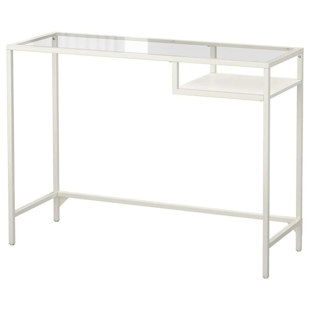 IKEA ASIA VITTSJO Mesa para Ordenador portátil, Cristal Blanco: Amazon.es: Hogar
