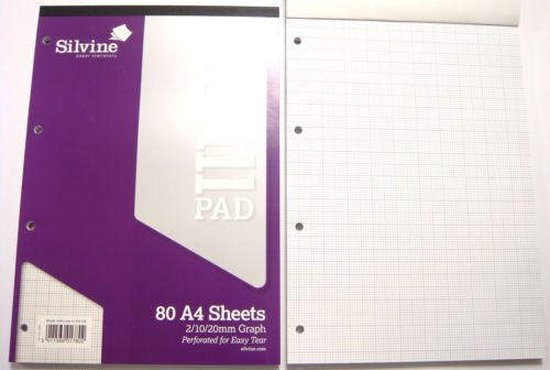 A Refill Pad Ruled Graph Paper Square Paper Plain Paper Silvine