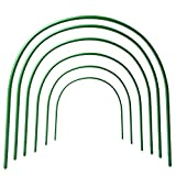 B&P Portable Garden Hoops Hoop Greenhouse Plant Hoops, Rust-Free Grow Tunnel 4ft Long Steel with Plastic Coated Hoops,Greenhouse Support Hoops for Garden Hoop,6Pack (Arch Size: 18.5'' H x 19.6'' W)