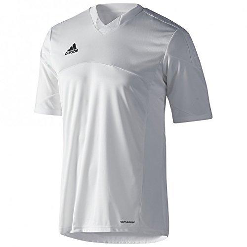 Adidas Mens Climacool Tiro 13 Short Sleeve Jersey X-Large White/White