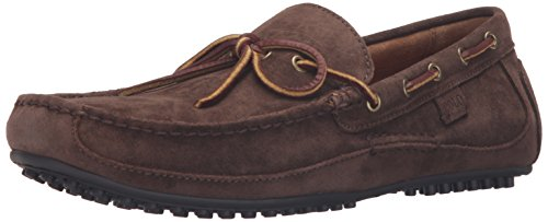 Polo Ralph Lauren Men's Wyndings Suede Slip-on Loafer, Brown, 12 D US