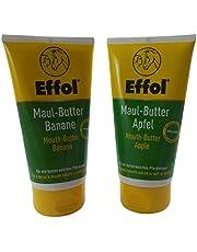 Set Effol Maul-Butter® banan äpple för en smör mjuk hästdemaul vardera 150 ml
